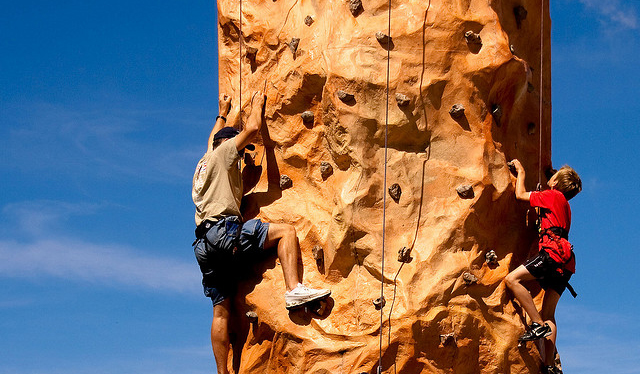 IT Career paths – think climbing wall not ladder
